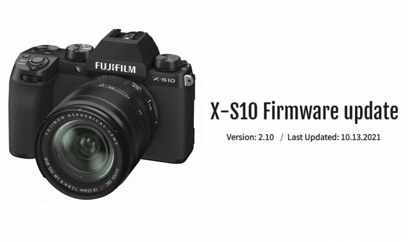 FUJIFILM выпустила прошивку для X-S10 версии2.10