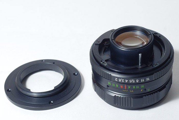 Гелиос 44м-7 на никон через адаптер без линзы